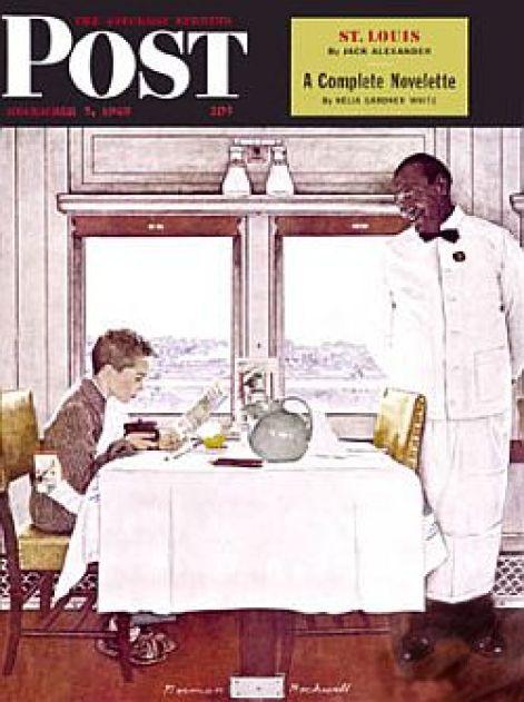 Menino com um menu: Norman Rockwell
