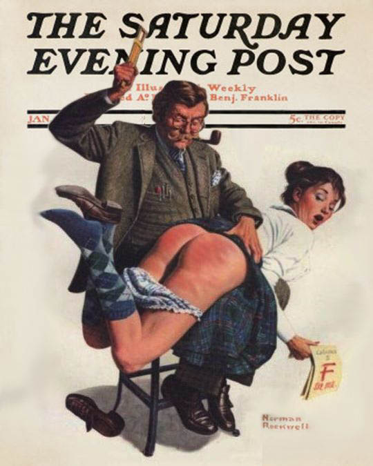 pin up Norman rockwell