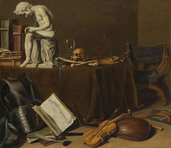 Pieter CLAESZ (ca. 1596/97-1600) Vanitas natureza-morta com o Espinario7, 1628. Óleo sobre painel, 71.5x80.5. Rijksmuseum, Amsterdam, Holanda.