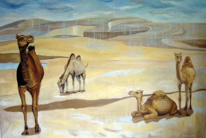 Fernanda Eva - chuva no deserto 190x280 cm