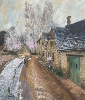Sávio Floret. A Village street in winter - OST 60X70 cm - R$ 18.800,00
