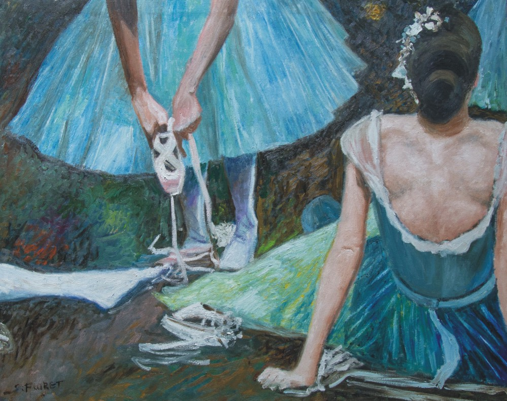 Sávio Floret. Bastidores de balé - OST 60X73 cm - R$ 24.800,00