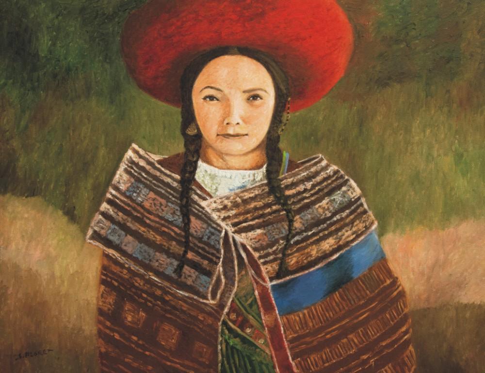 Sávio Floret. Boliviana - OST - 70X90 cm - R$ 18.800,00