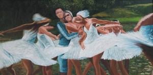 Sávio Floret. Lago dos Cisnes - OST 94X190 cm - R$ 42.800,00