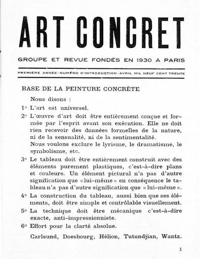 Manifesto Art Concrete