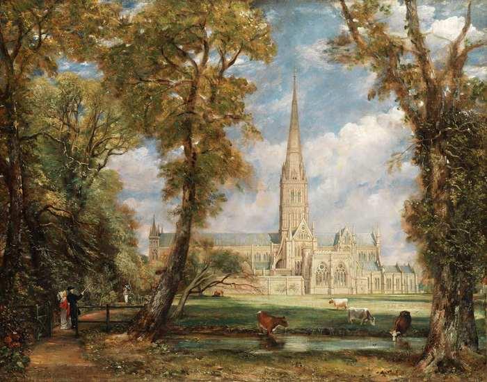 Poética do Pitoresco; John CONSTABLE (1776-1837) Catedral de Salisbury do recinto do bispo, ca. 1825.