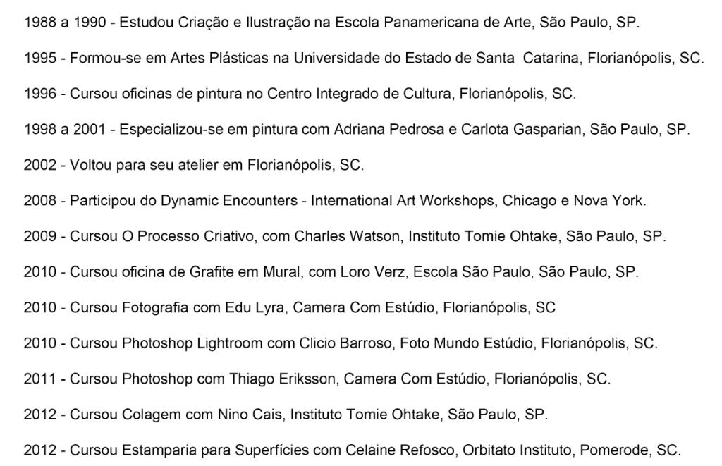 Formação; Luciane de Paula