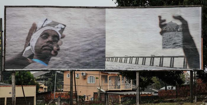 arte em outdoor; Aline Motta (Rio Branco) Créditos: Odair Leal