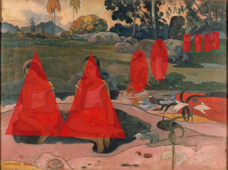 Primavera sagrada: bons sonhos (Nave nave moe). Paul Gauguin, 1894. Óleo sobre tela, 74 x 100 cm. Hermitage Museum .