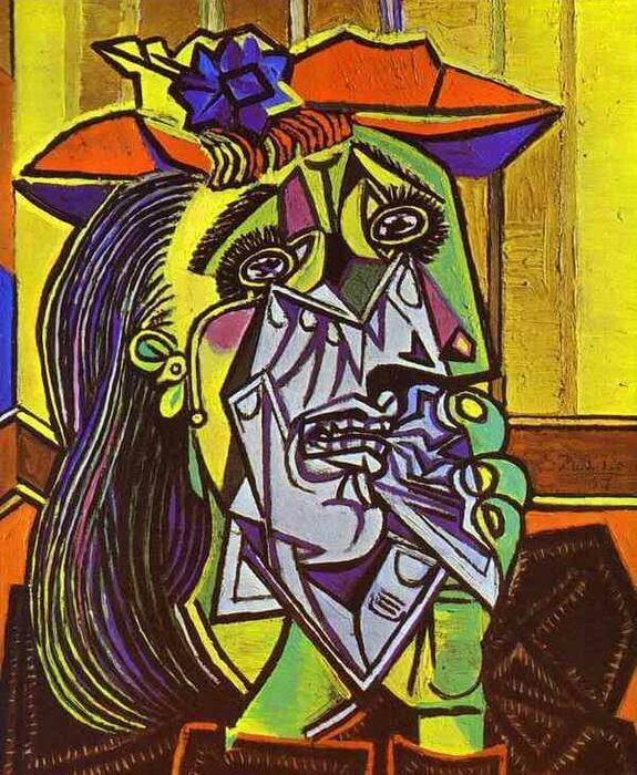 Pablo Picasso obras. A mulher que chora