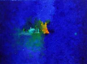Tarcisio Costa. Nebula T 0111 - 2020 - Acrílico sobre tela 46 x 62 cm