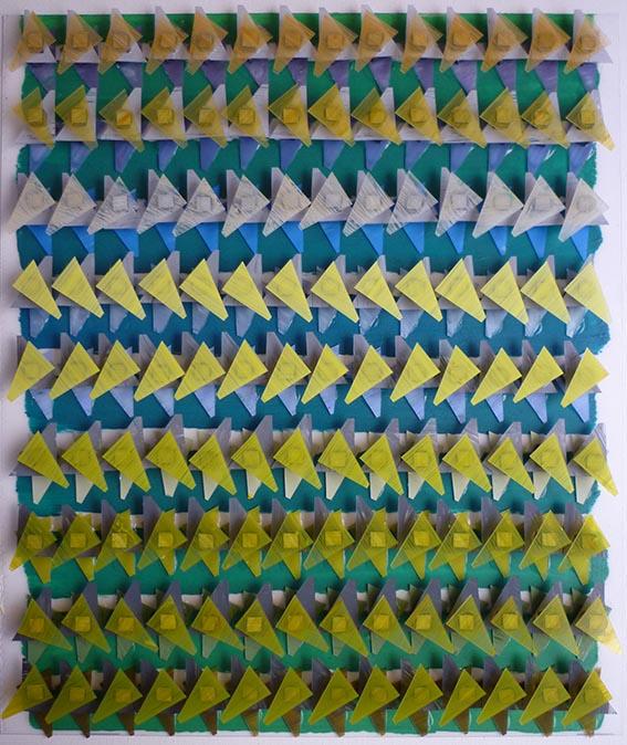 Fernando Correia - Estudo de padrões verde, azul e amarelo