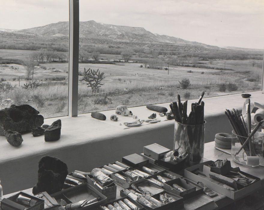 Estúdio de Georgia O'keeffe (1940).  Créditos: Laura Gilpin