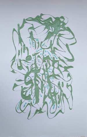 Marisa Carvalho - Círculo de dança III, 2021, acrílica sb papel, 70 x 50 cm