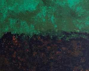 Marisa Carvalho - Queimada, 2019, acrílica sb tela, 70 x 90 cm