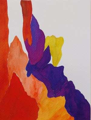 Marisa Carvalho - série Paisagem III,2021, ecoline, 32 x 24 cm