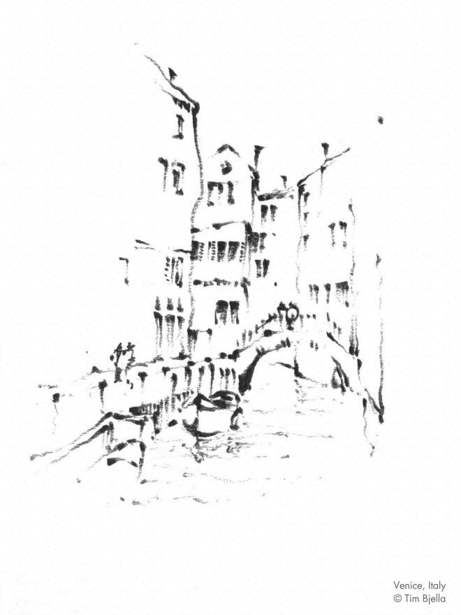 Tim Bjella Sketches - Venice 1