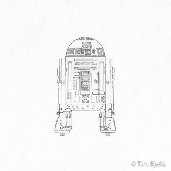 Grade School Drawings - Droid - Tim Bjella
