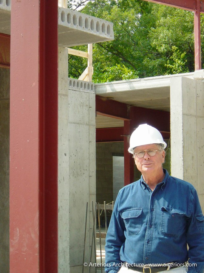 Russell Bjella on Arteriors Architects Construction Site