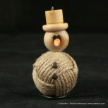 Bjella Snowman Ornament - Day 11 - Rope-10