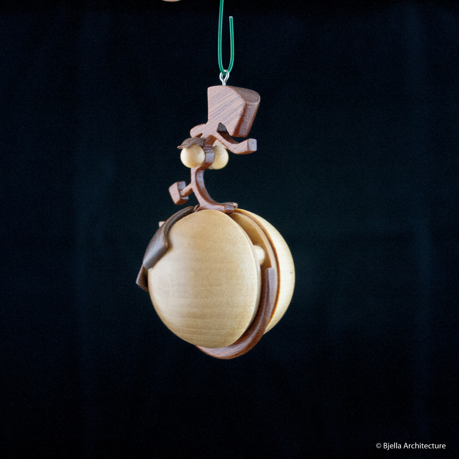 Snowman Ornament Silhouette by Tim Bjella-2
