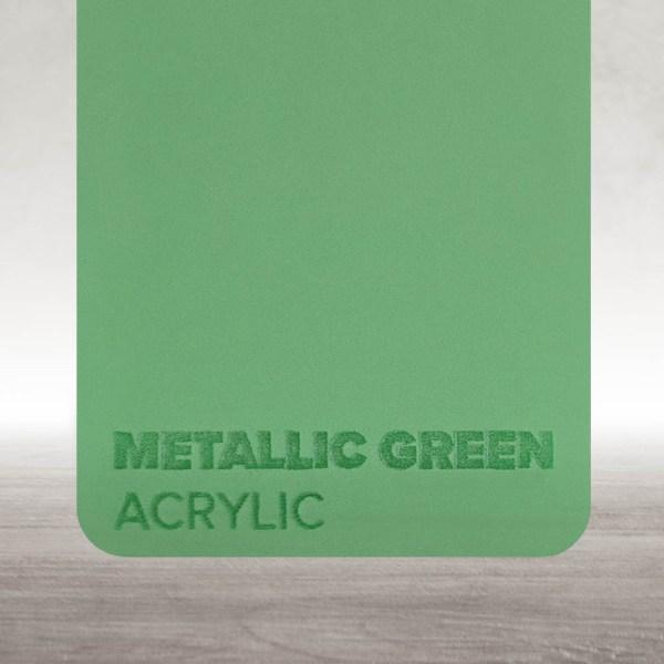 Acrílico Verde Metalizado Flux Lasers