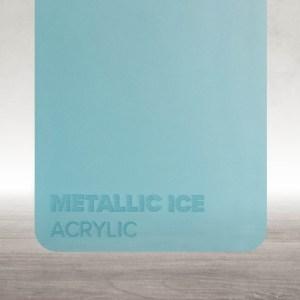 Acrílico Azul Gelo Metalizado Flux Lasers
