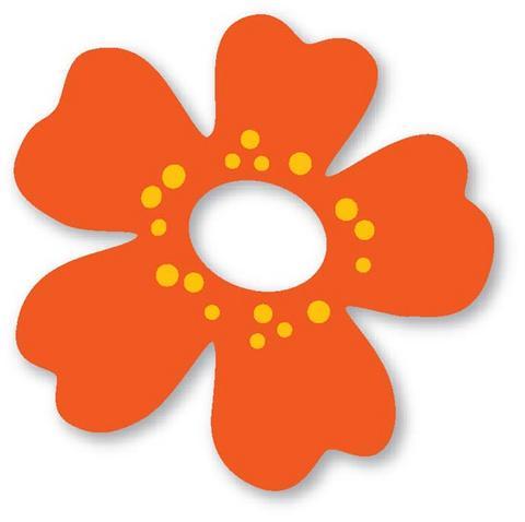 Molde eva flor com furo