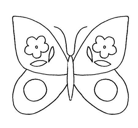 Molde borboleta decorada