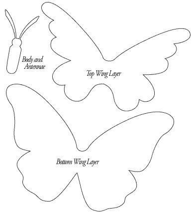 Molde eva borboleta