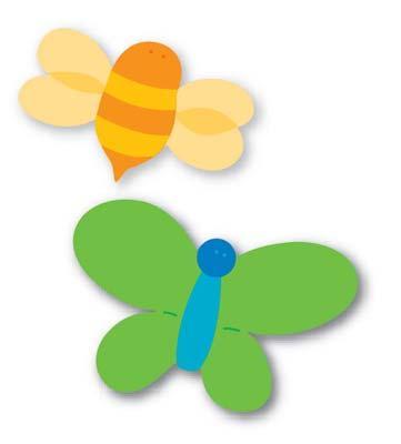 moldes eva borboleta e abelha