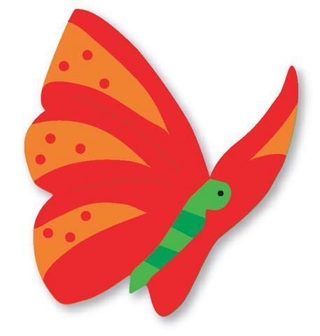 molde de eva borboleta