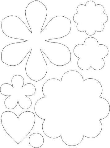 Moldes de eva várias flores