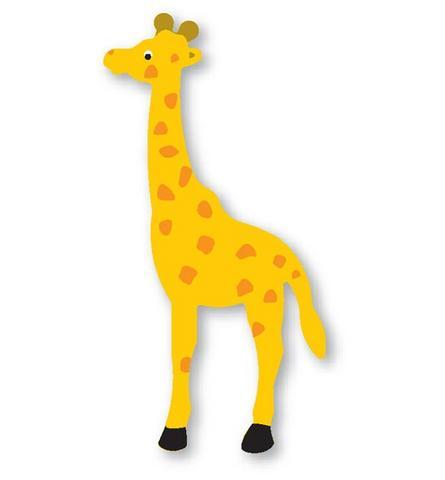 molde de eva girafa