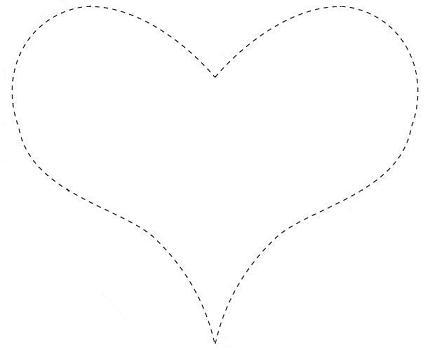 moldes eva coração