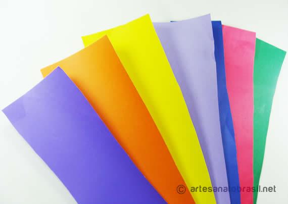 Material Papel Color Set Argolas de papel