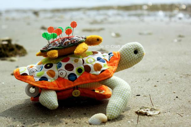 molde-almofada-tartaruga-alfinete