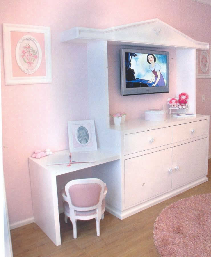 Quarto decorado de princesas