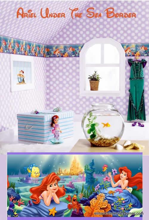 Decoração quartos infantis pequena sereia