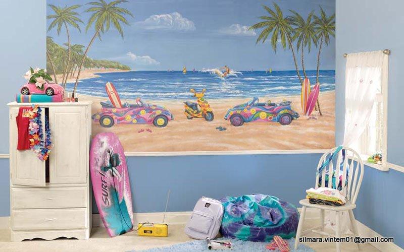 Quarto decorado de praia