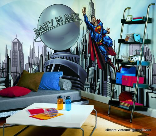 Quarto decorado do super homem (superman)