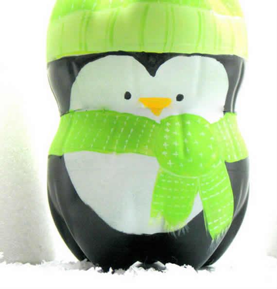 Como fazer um Pinguim com Garrafas Pets - Veja!