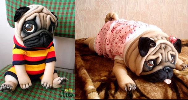 Cachorro Feita com Meia de Seda