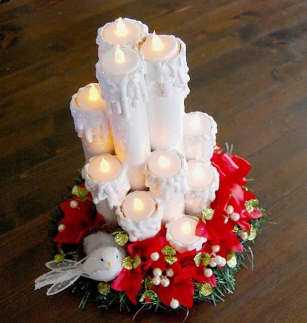 Velas Decorativas com Rolo de Papel Higienico