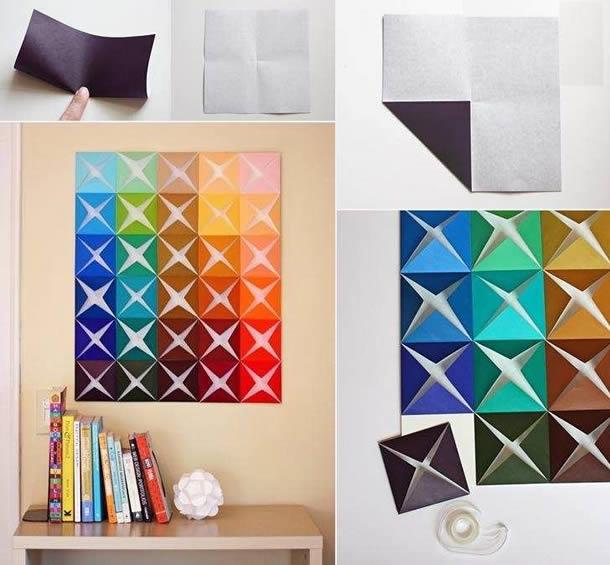 decoracao-de-parede-com-papel-dobradura