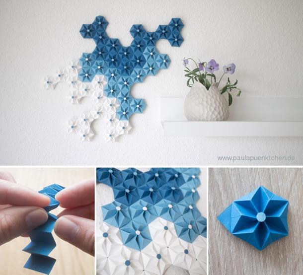decoracao-de-parede-com-papel-origami