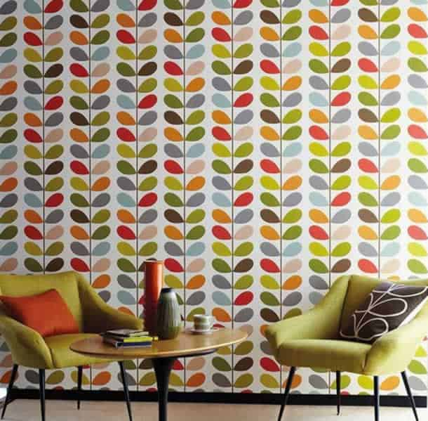 decoracao-de-parede-com-papel-retro