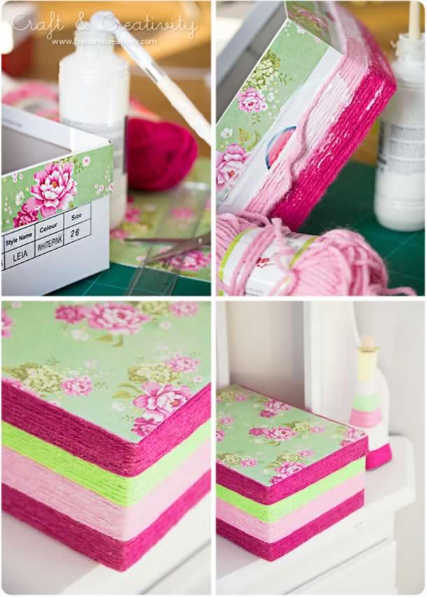 caixa-de-sapatos-decorada-novelos
