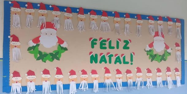 mural-de-natal-papai-noel