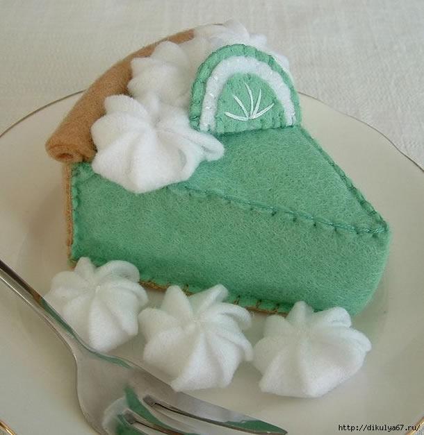 bolo-de-feltro-verde